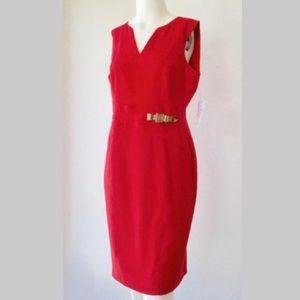 Liz Claiborne Sleeveless Red Dress